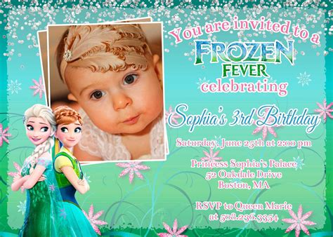 Promo Legging Printing Frozen Fever printable frozen fever birthday invitation with photo personalized greeting cards invitations
