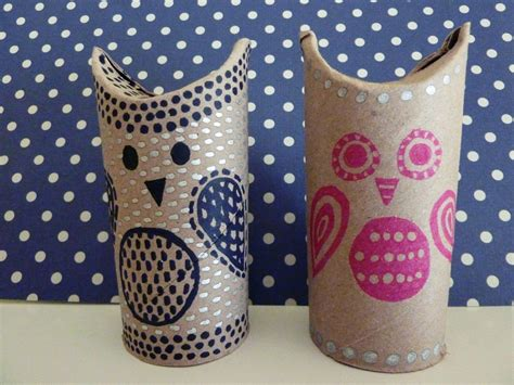 Owl Craft Toilet Paper Roll - friday craft day toilet paper roll owls