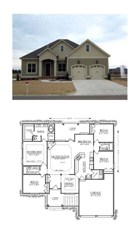 plans maison en photos 2018 bungalow house plan 74736