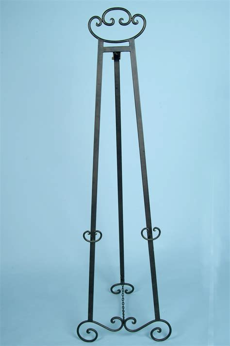 Decorative Floor Easel Stands by Decorative Metal Floor Easel Black Tone Finish Arizona