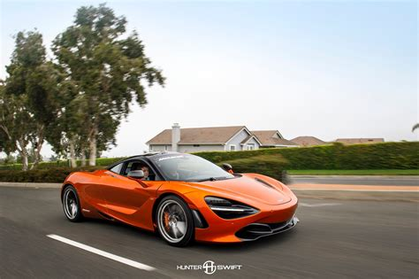 orange mclaren 720s exclusive new mclaren 720s caught in cali two months