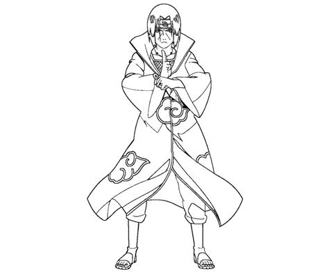 itachi free coloring pages