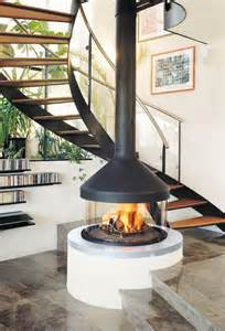 Free Standing Outdoor Fireplaces - hanging and suspended fireplaces