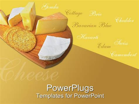 powerpoint themes bread powerpoint template a chopping board with cheese and