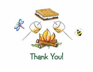 items similar to personalized cfire smore thank you note cards on etsy