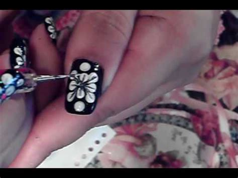 easy nail art black and pink easy to do nail art design tutorial black white pink youtube
