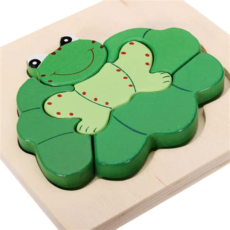 3d Puzzle Frog By Bimbozone 3d assembled frog wooden puzzle preschool educational
