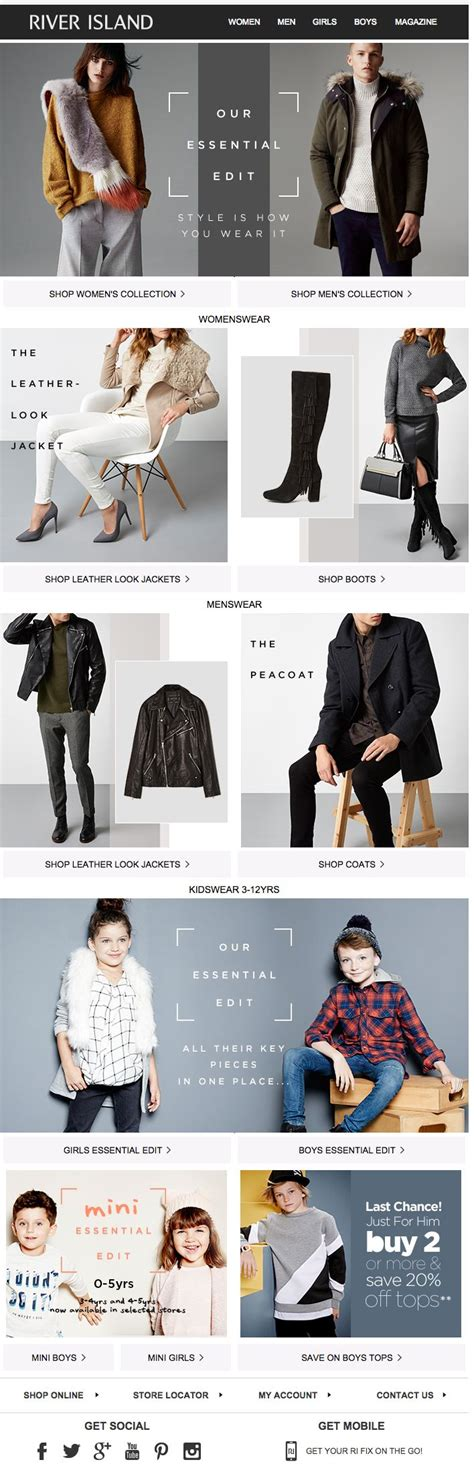 fashion design and marketing river island newsletter fashion email fashion design