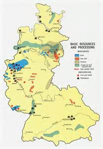 This map displays the basic resources in germany