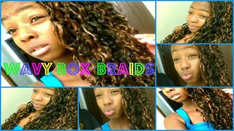 how to make box braids look wavy how to wavy box braids youtube