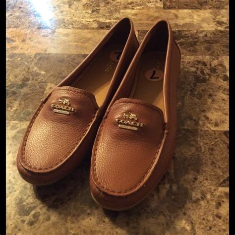 brown coach loafers 55 coach shoes coach brown loafer flats from