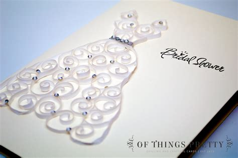 Handmade Bridal Shower Cards - quilling bridal shower card handmade greeting by