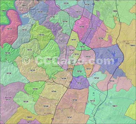 texas county map with zip codes zip codes travis county zip code boundary map