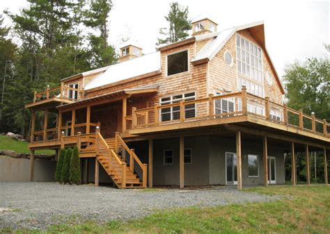 gambrel style homes gambrel style post beam house