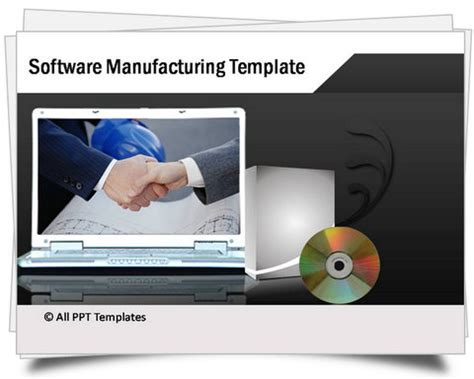 software powerpoint templates powerpoint software manufacturing template