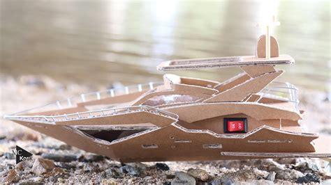 boat luxury yacht amazing cardboard diy