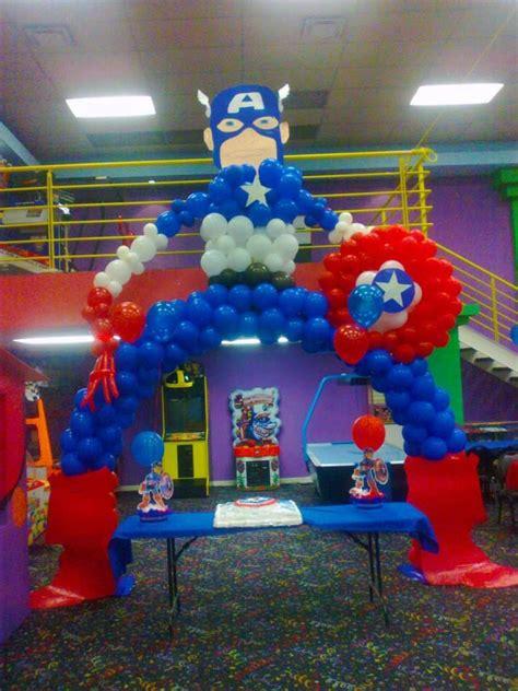 capitan america decoracion ambientacion cotilln fiestas arco en globos avengers buscar con google fiesta