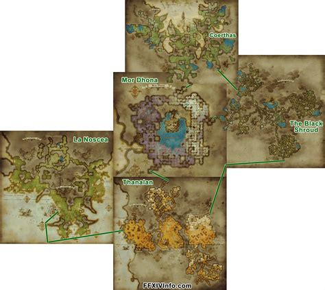 ffxiv maps how much more of the eorzea continent will heavensward