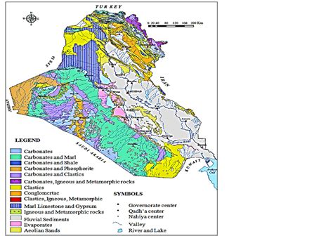 geological map of iraq effect of bearing capacity on designing foundations in