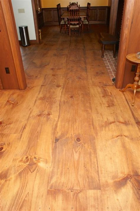 Tung Wood Floors by Wide Plank Eastern White Pine With A Custom Stain And A