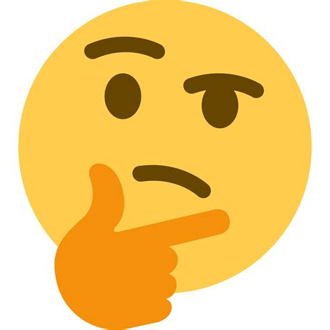 emoji thinking super high resolution transparent template of the twitter