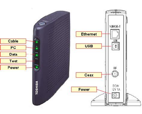cable modem troubleshooting toshiba pcx