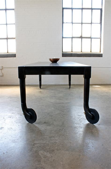 rolling dining table dreeben