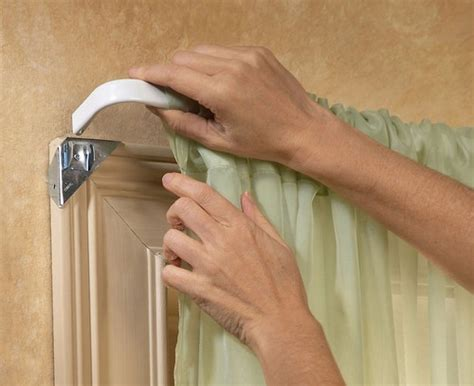 instant up curtain rod holders set of 8 easy mount instant curtain rod holders