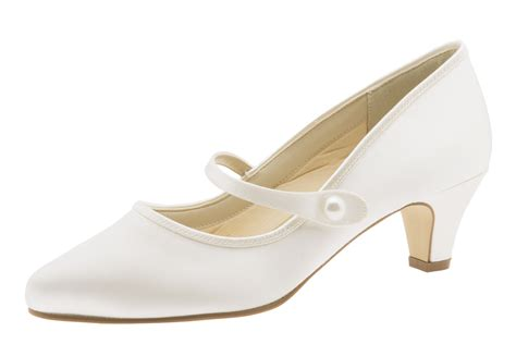 sale flache brautschuhe ivory satin rainbow club