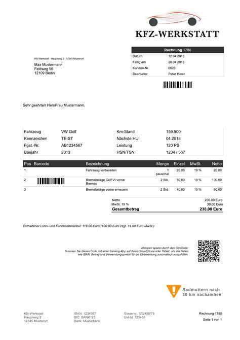 Muster Rechnung Verkauf Pkw Kfz Faktura Werkstatt Software Autowerkstatt Rechnungsprogramm Reparatur Teile Ebay
