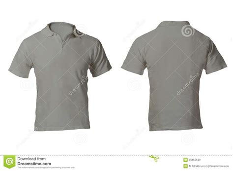 Kaos 3d Real Abstrak s blank grey polo shirt template royalty free stock