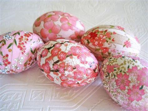 Decoupage Easter Eggs Tissue Paper - easter eggs pink easter eggs decoupage eggs origami eggs