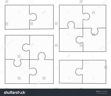 jigsaw puzzle vector blank simple templates stock vector