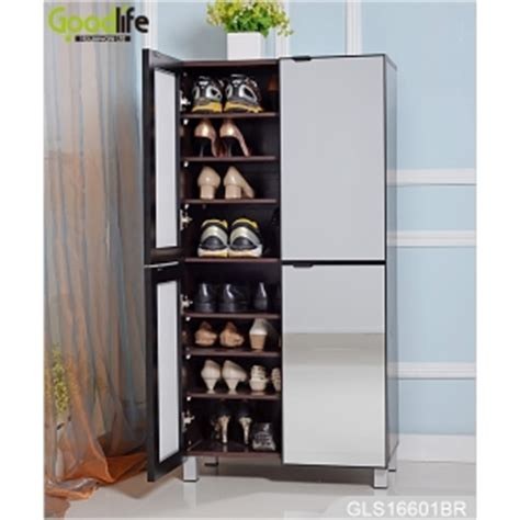 Large Shoe Cabinets With Doors Large Storage Space Cabinet For Shoes Storage With Mirror Doors