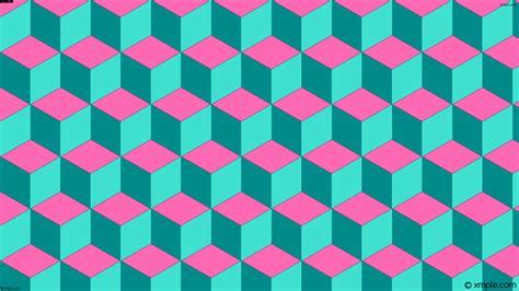 wallpaper green blue pink wallpaper 3d cubes green blue pink ff69b4 008b8b 40e0d0
