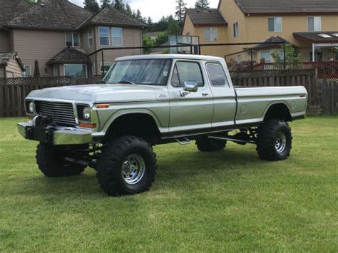 Ford F250 Lifted by 1978 Ford F 250 4x4 Cab Lifted 60 Rear Front