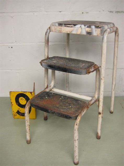 vintage cosco metal step stool vintage kitchen stool cosco step stool folding step