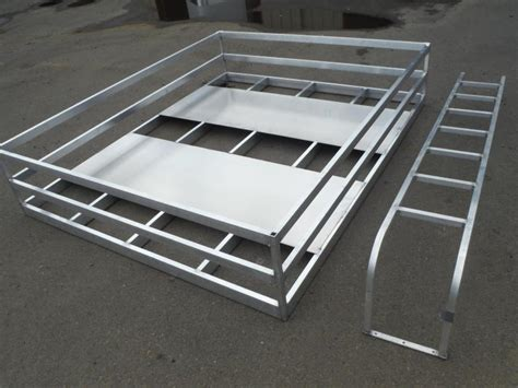 Trailer Hay Rack custom made alum hay racks ladder to fit your trailers