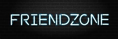vector realistic isolated neon sign  friendzone