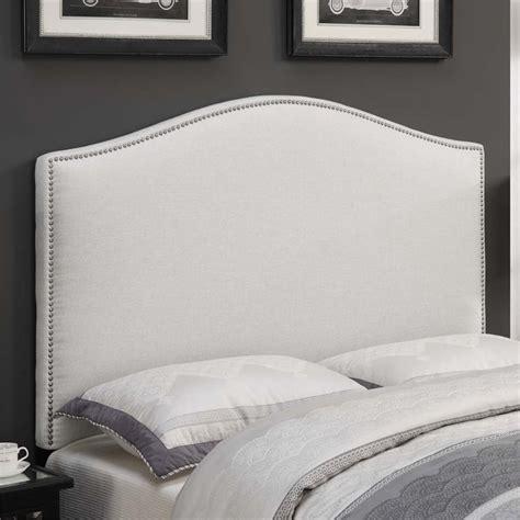 white linen headboard pri camel back upholstered full queen headboard in linen