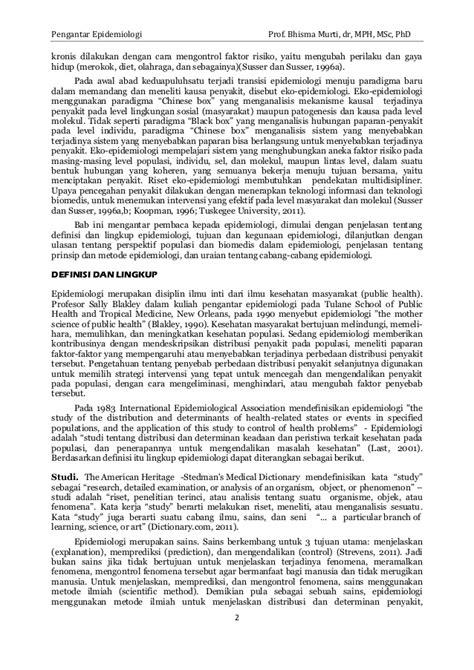 Pengantar Epidemiologi Edisi 2 Dr Eko Budiarto pengantar epidemiologi prof bhisma murti