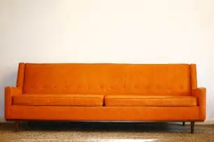 vintage orange couch fort worth vintage