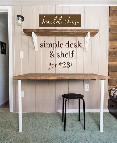 Simple Diy Wall Desk Shelf Brackets For Under 23 Wall To Wall Desk Diy