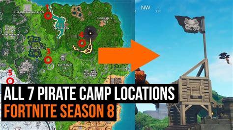 pirate camp locations fortnite season  week