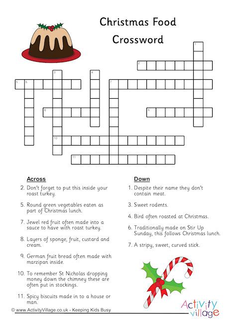 best christmas puzzles and answers food crossword