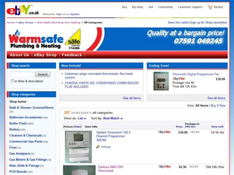 ebay mobile site uk easierthan website design ebay shop design advice