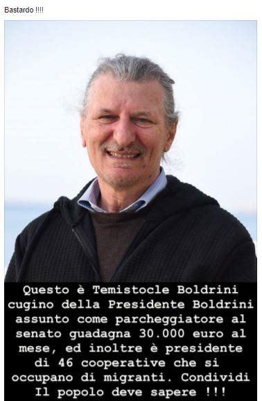 boldrini presidente bufala questo 232 temistocle boldrini cugino della