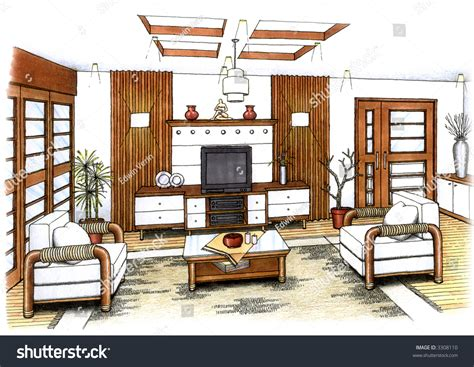living room layout tool simple sketch furniture living artists simple sketch interior design living stock