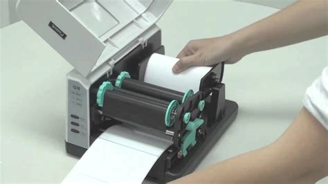 Printer Postek Q8 postek q8 series loading ribbon and media wmv