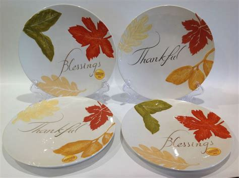 4 better homes and gardens heritage collection plates blessings thankful gardens home